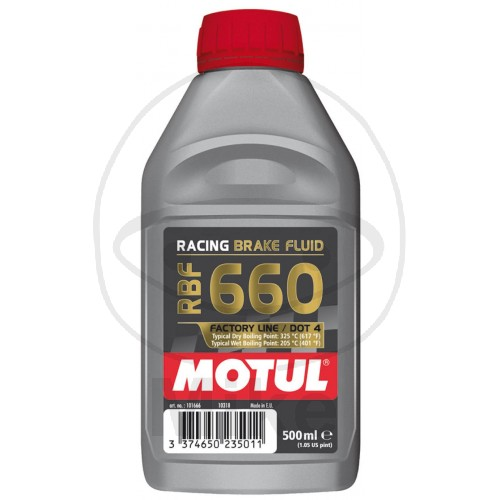 BRAKE FLUID DOT4 0.5L MOTUL RBF 660 RACING