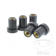 RUBBER WELL NUT WITH BRASS INSERT SET JMP
