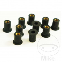 RUBBER WELL NUT SET M5 x 0.8 14MM