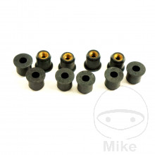 RUBBER WELL NUT WITH BRASS INSERT SET JMP M6X1.00 15MM